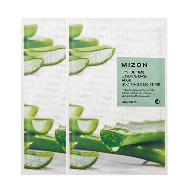 Тканевая маска с экстрактом алое MIZON joyful time essence mask aloe