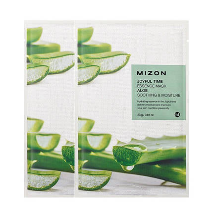 Тканевая маска с экстрактом алое MIZON joyful time essence mask aloe, фото 2
