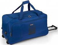 Дорожная прочная сумка на колесах Gabol Roll 83L Blue синяя