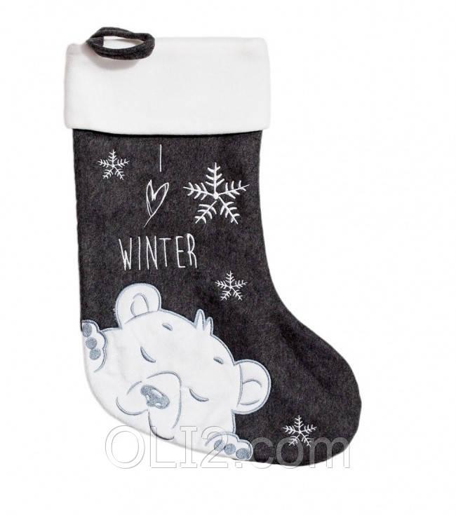 Новогодний носок для подарков рождественский MARILYN