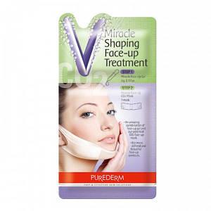 Корректирующая лифтинг-маска для подбородка Purederm Miracle Shaping Face-up Treatment