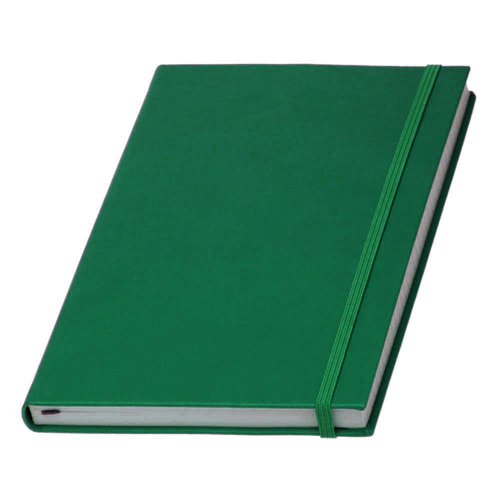 Записная книжка  Туксон White Line, белый блок в линейку, кожзам, зеленая