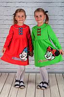 Тепленькое платье на девочку Минни (86, 98, 110 см), фото 1