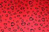 Ткань трикотаж дайвинг красный дизайн сердца