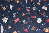 Ткань трикотаж креп дайвинг сумочки