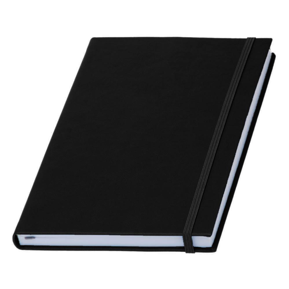 Записная книжка  Туксон White Line, белый блок в линейку, кожзам, черная