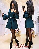 Комбинезон женский модный с шортами и рукавами-клеш разные цвета Dk734, фото 1