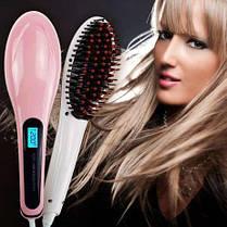 Расческа - выпрямитель Fast Hair Straightener HQT-906 замена утюжку, плойки, фото 2