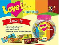"""Жевательные конфеты """"Love is"""" любовь это Банка 100 шт"""