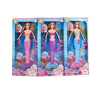 Лялька 1026-3 русалка, світло, 3 кольори, бат. (таб.), кор., 36,5-17-4,5 см.
