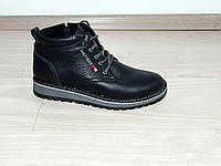 Мужские зимние ботинки кожа