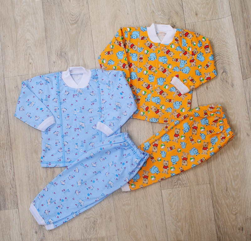 Детская пижама на пуговках(начес) разные расцветки