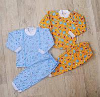 Детская пижама на пуговках(начес) разные расцветки, фото 1