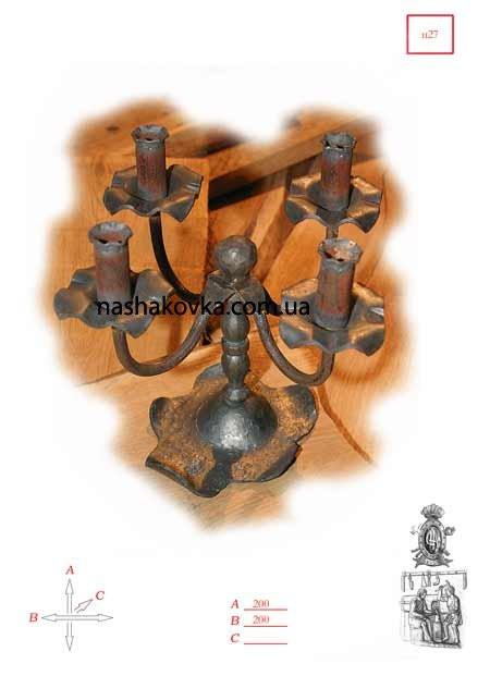Кованный подсвечник на 4 свечи