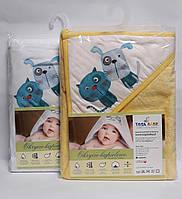 Полотенце для малышей 80*80 см Пес и кот Микс Хлопок РК-008 Tega Baby Польша