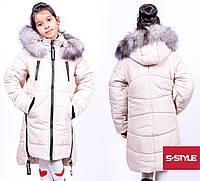 Стильный зимняя курточка для девочки на молнии