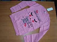 Реглан с микроначесом для девочки размер 9 10лет