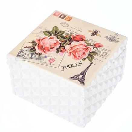 """Деревянная шкатулка """"Розы в Париже"""" с зеркалом., фото 2"""