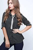 Блузка  23028 черный, 46-48
