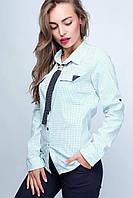 Женская Блузка  23028 46-48, белый-зеленый