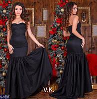 Женское платье в пол вечернее