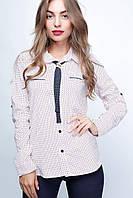 Блузка  23028 46-48, белый-красный