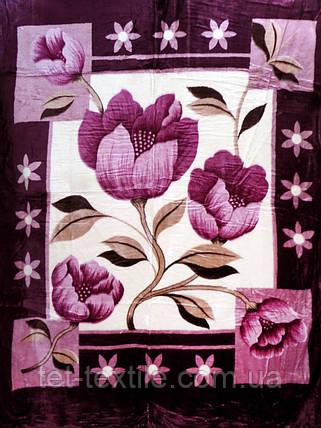 Плед акриловый облегченный True Love Фиолетовый первоцвет (180x230), фото 2