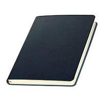 Записная книжка  Сантьяго Ivory Line, кремовый блок в клетку, кожзам, темно-синяя, фото 1
