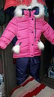 Зимний детский комбинезон для девочек