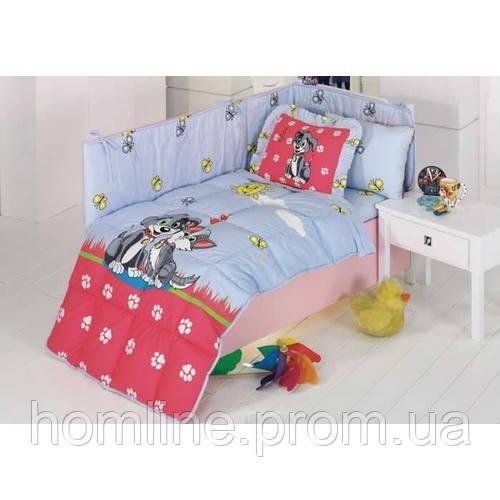 Набор в кроватку для младенцев Kristal Дисней Baby Pati голубой (6 предметов)