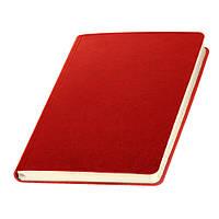 Записная книжка  Сантьяго Ivory Line, кремовый блок в линейку, кожзам, красная