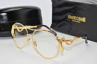 Женские очки солнцезащитные Авиатор Cavalli имиджевые