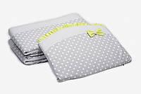 Бампер для детской кроватки Twins Premium Glamour P-001 (оливковый)