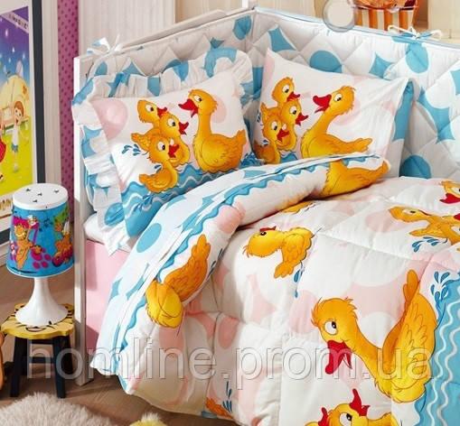 Набор в кроватку для младенцев Kristal Дисней Baby Paytak голубой (6 предметов)