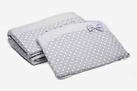 Бампер для детской кроватки Twins Premium Glamour P-009 (фиолетовый)
