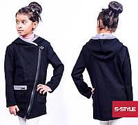 Трикотажная кофта для девочки с карманами