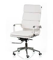 Кресло руководителя, офисное Solano 2 artleather white