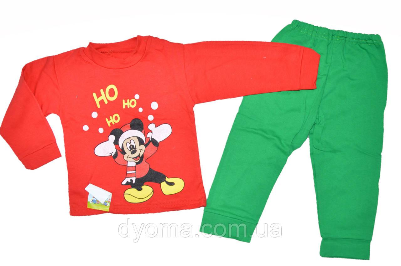 """Детская новогодняя пижама """"Микки Ho-Ho-Ho"""" для мальчиков"""