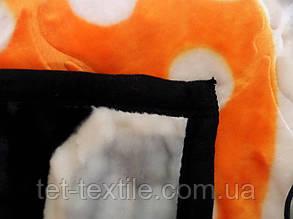 Плед акриловый Elway с тиснением Круги на черном (200x240), фото 2
