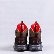 Мужские кроссовки Nike Air Huarache Winter Shoes коричневые топ реплика, фото 3
