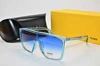 Женские очки солнцезащитные Fendi маска синие