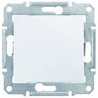 Выключатель Schneider-Electric Sedna 1-клавишный белый SDN0100121