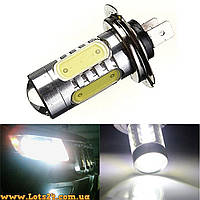Авто-лампы H7 1 CREE + 4 COB LED 6500К (светодиодные лампочки, лучше чем галоген и ксенон)