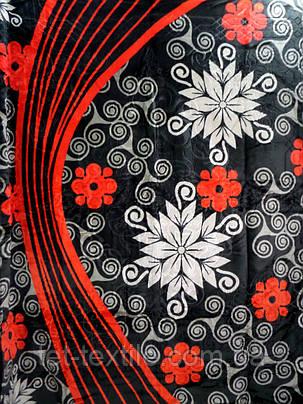 Плед акриловый Elway с тиснением Цветы на черном (200x240), фото 2