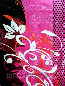Плед акриловый Elway с тиснением Цветок на розовом (200x240)
