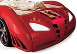 Детская кровать машинка гоночная машина белая F1, фото 5