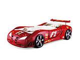 Детская кровать машинка гоночная машина белая F1, фото 6