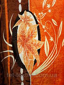 Плед акриловый Elway с тиснением Оранжевая листва (200x240)