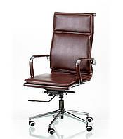 Кресло руководителя, офисное Solano 4 artleather brown, коричневый