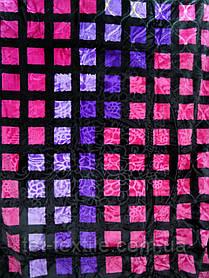 Плед акриловый Elway с тиснением Цветные квадраты (200x240)